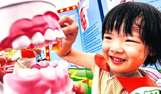 Can children brush their own teeth?