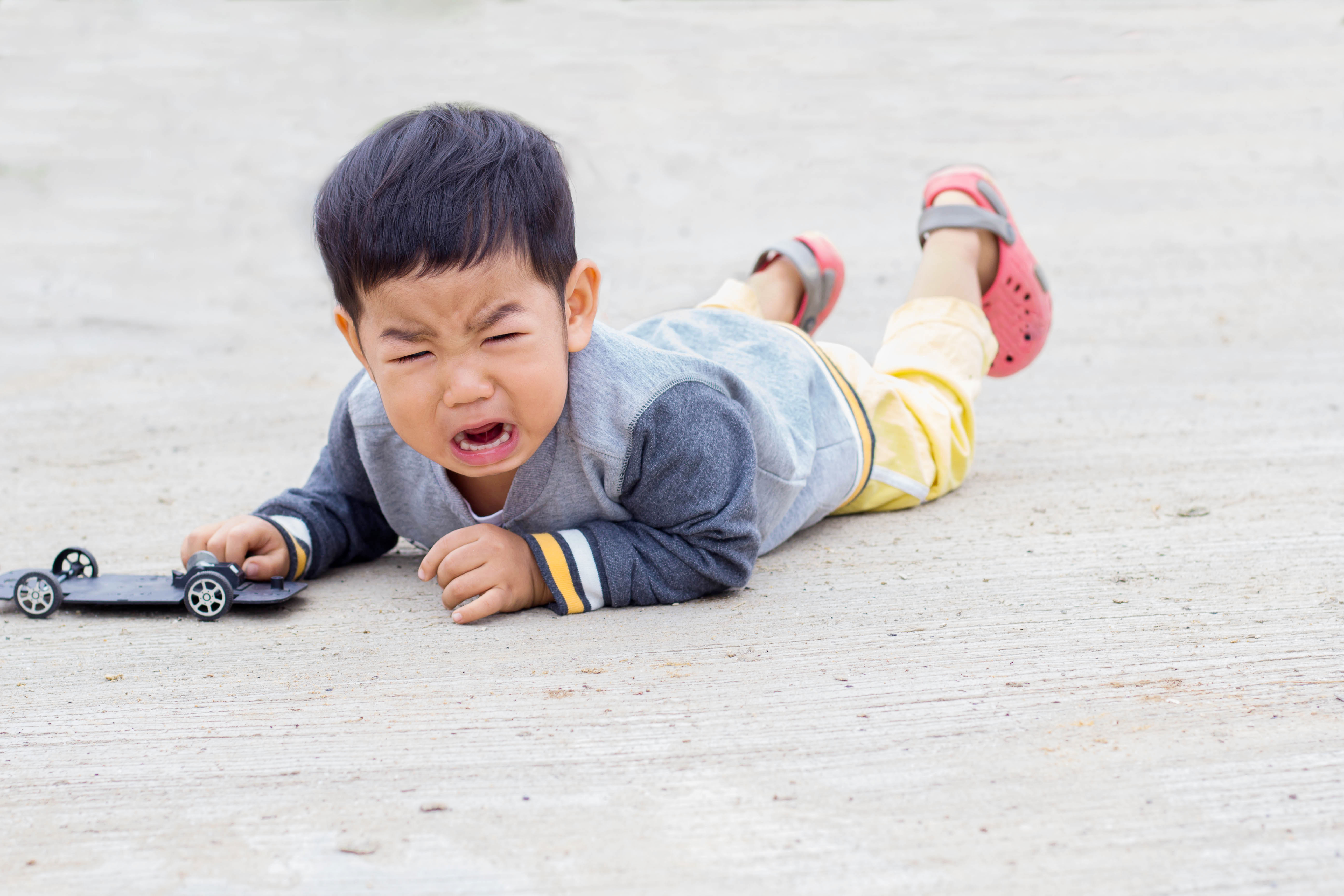 Injuries in young children are caused by falls while learning to walk or during play
